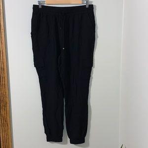 Black military style pants